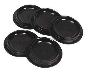 Ball Display Cups: Black, Molded Plastic