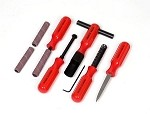 Red Handled 5 Piece Tool Set